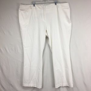 Worthington White Modern Fit Trouser Leg Pants
